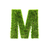 Grass letter - M - Upper case — Stock Photo