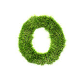 Grass letter - O - Upper case — Stock Photo