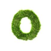 Grass letter - O - Upper case — Stock Photo