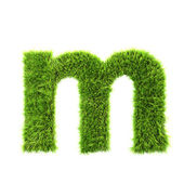 Grass lower-case letter - m — Stock Photo