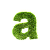 Grass lower-case letter - A — Stock Photo