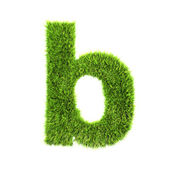 Grass lower-case letter - B — Stockfoto