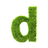 Grass lower-case letter - d — Stock Photo