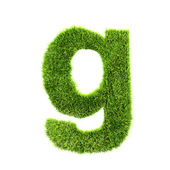 Grass lower-case letter - g — Stock Photo