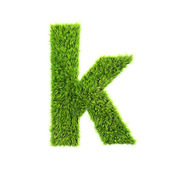 Grass lower-case letter - k — Stock Photo