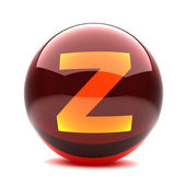 Letter in a 3d glossy sphere - Z — Stock Photo