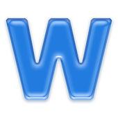 Aqua letter - W — Stock Photo