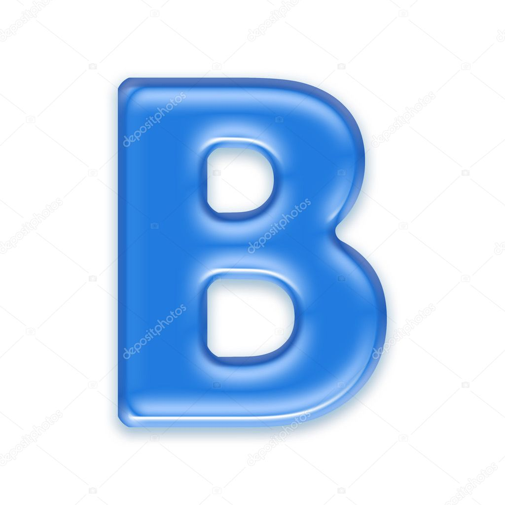 Aqua letter - B  Stock Photo #2114787