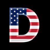 Us 3d letter - D — Stock Photo