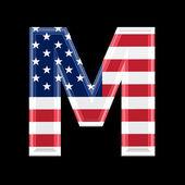 Us 3d letter - M — Stock Photo