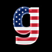 Us lower case 3d letter - g — Stock Photo