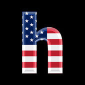 Us lower case 3d letter - h — Stock Photo