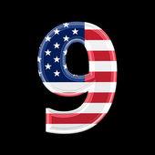 Us 3d digit - 9 — Stock Photo