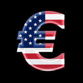 Us 3d currency sign - euro — Stock Photo