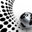 Silver globe on halftone background — Stock Photo #2635305