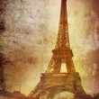 Eiffel tower on grunge background — Stock Photo #2635615
