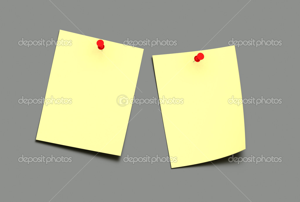 Empty adhesive notes on grey background — Stock Photo #2635351