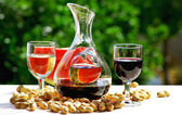 Glass of withe and red wine. — Stock Photo