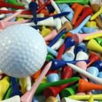 Golf ball and tees — Stock Photo #2036989