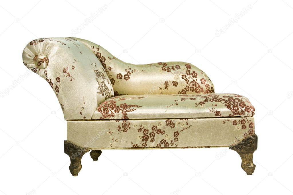 Psychiatrists therapy couch isolated with clipping path at this size — Stock Photo #2156395
