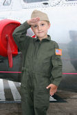 Young navy pilot — Stock Photo