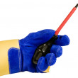 Stock Photo: Slotted screwdriver isolated with path