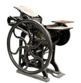 Antique letterpress from 1888 — Stock Photo