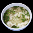 Bowl of wonton soup — Stock Photo
