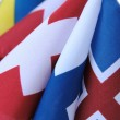 Flags with crosses — Stock Photo