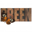 Butterfly on green word — Stock Photo #2486543
