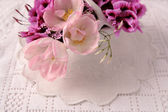 Purple and pink flowers — Stock Photo