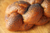 Challah with poppy seeds — Stock Photo