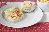 Biscuits with pimento cheese — Stock Photo