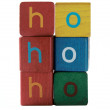 Ho ho ho in block letters — Stock Photo
