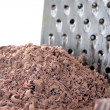 Grated chocolate and grater — Foto Stock