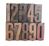 Wood numbers — Stock Photo