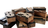 Wood type grouping — Stock Photo