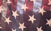 Backlit U.S. flag — Stock Photo