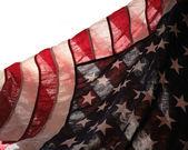 Backlit USA flag — Stock Photo