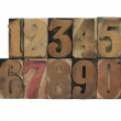 Numbers in old wood type — Stock Photo #2595496