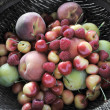 Peaches, plums, raspberries, Rainier che - Stock Photo