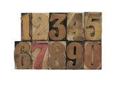 Numbers in old wood type — Stock Photo