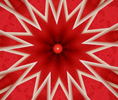 Red and white star abstract — Stock Photo