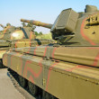 Battle tank column — Stock Photo