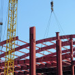 Stock Photo: Mounting of building framework