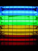 Fluorescent lamp rainbow — Stock Photo