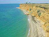 Pictorial coast of Black sea — Stock Photo