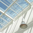 Modern interior with glass roof — Photo