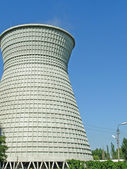 Industrial water cooling tower — Stock Photo