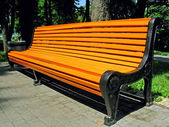 Orange bench — Stock Photo